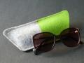 Brillenhülle aus Filz, grün, natur