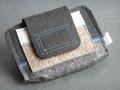 kompakter Geldbeutel aus Wollfilz