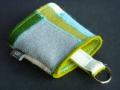 Schlüsselsack aus Filz, gepatcht, bunt