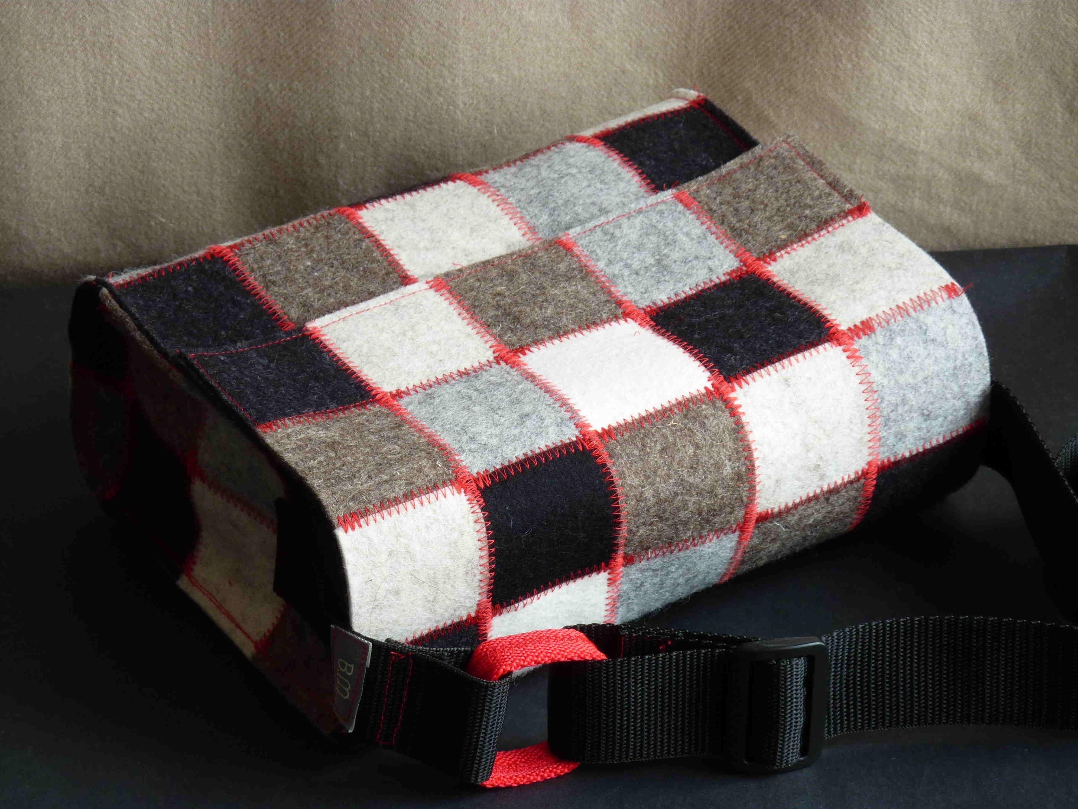 Handtasche, Patchwork-Quadrate