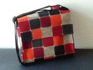 Handtasche, Patchwork aus Filz